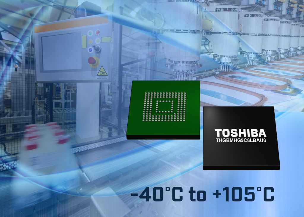 Toshiba erweitert sein Angebot industrieller eMMC Ver.5.1 konformer Embedded-NAND-Flash-Speicher