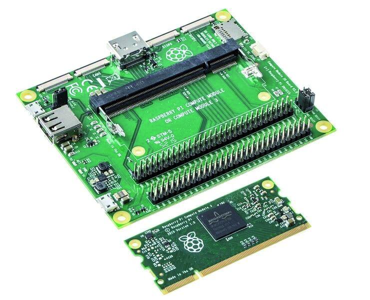 Raspberry Pi 3 Compute Module bietet kostengünstige Entwicklungslösung