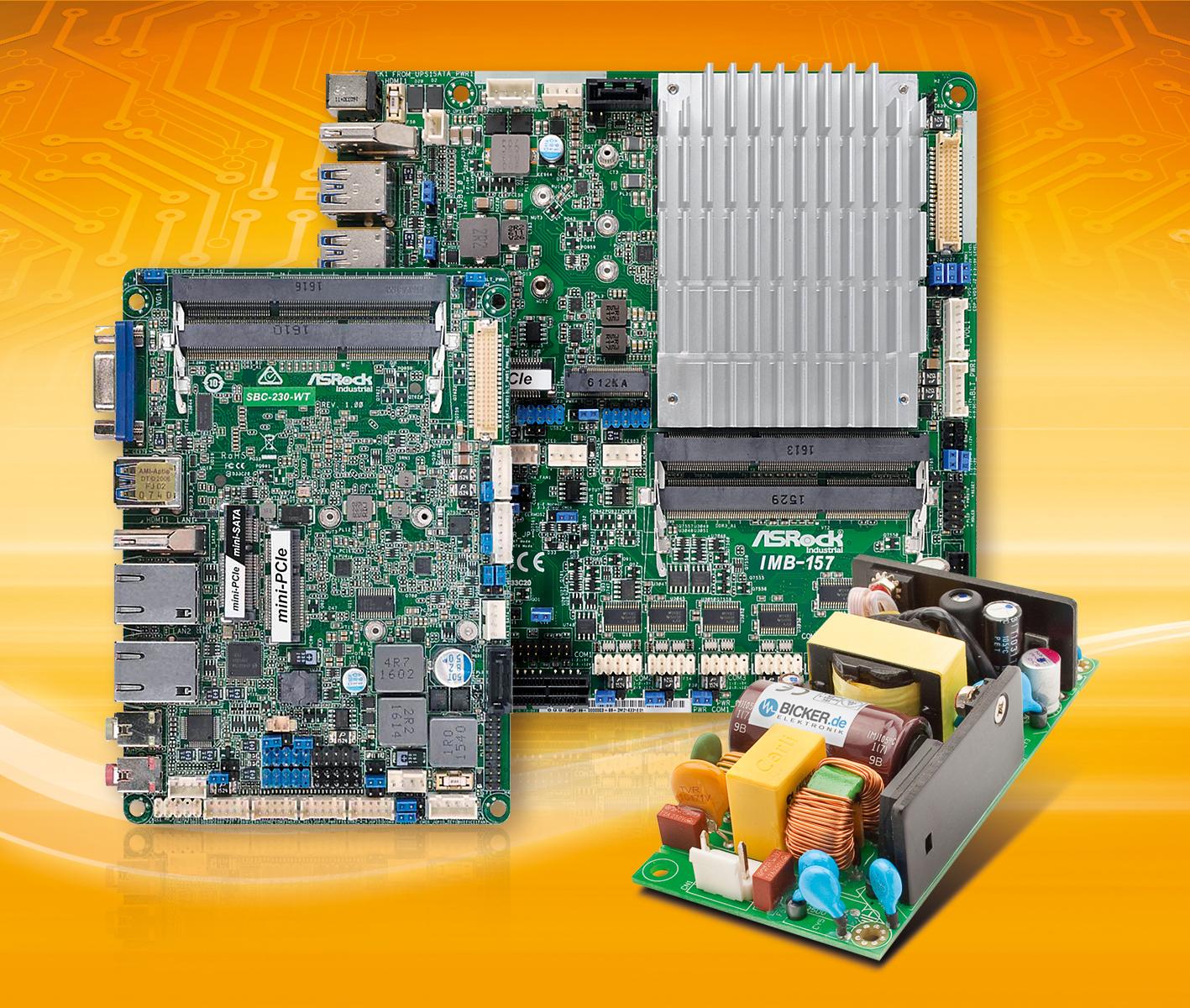 Power+Board-Lösungen mit Intel Apollo Lake-Technologie