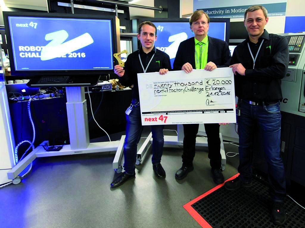pi4_place_THT als beste Automatisierungslösung im Rahmen der next47 Robotics Challenge im Erlanger Werk von Siemens ausgezeichnet