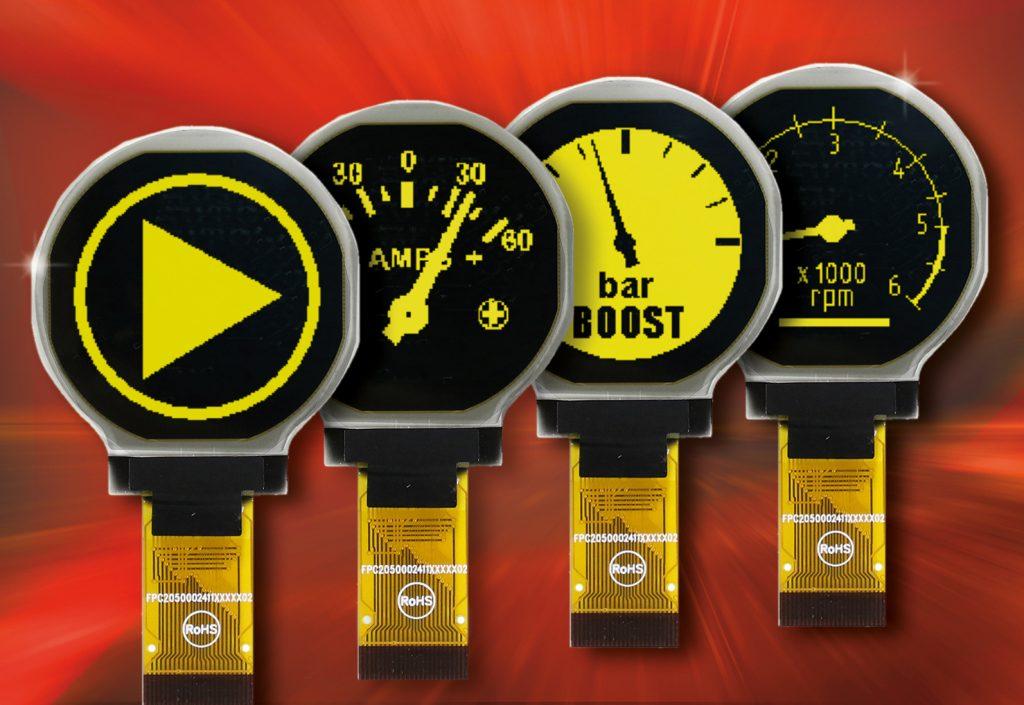OLED-Display für Mess- und Steuergeräte