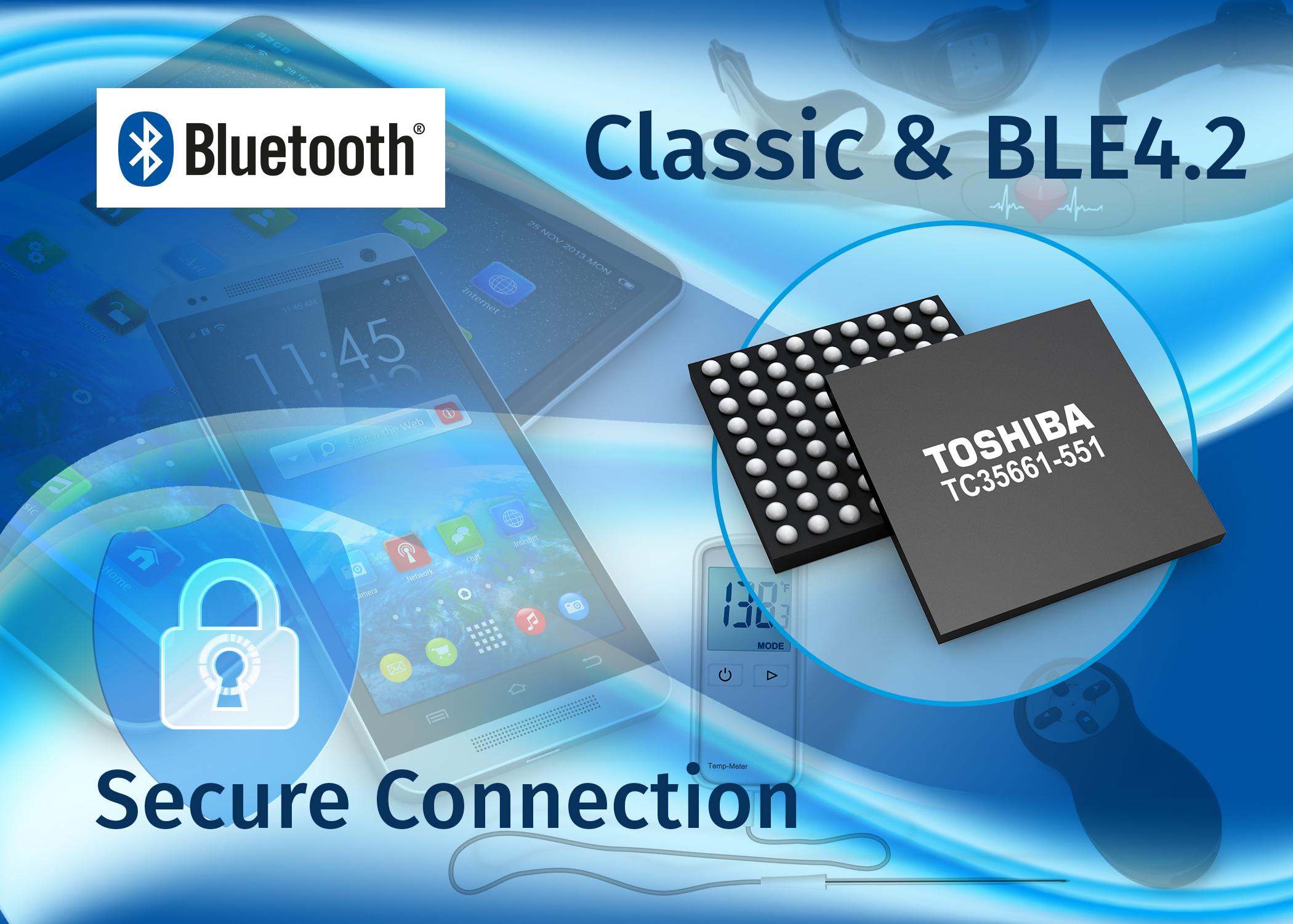 Single-Chip-IC der Bluetooth LE 4.2 unterstützt