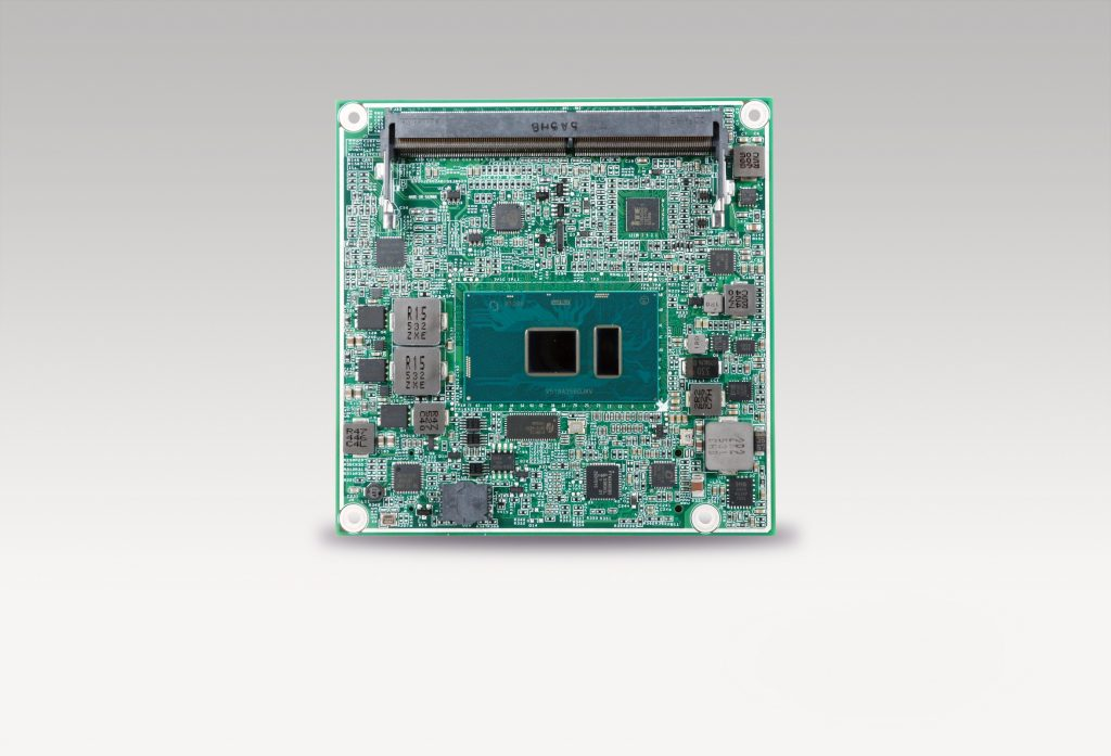 COM-Express-Modul mit der siebten Generation Intel-Core-Ultra-Low-Power-Prozessoren