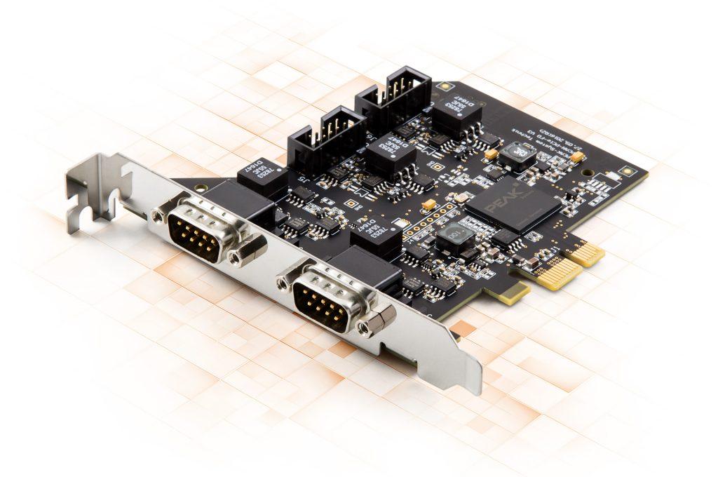 Viermal CAN-FD auf einer PCI-Express-Karte