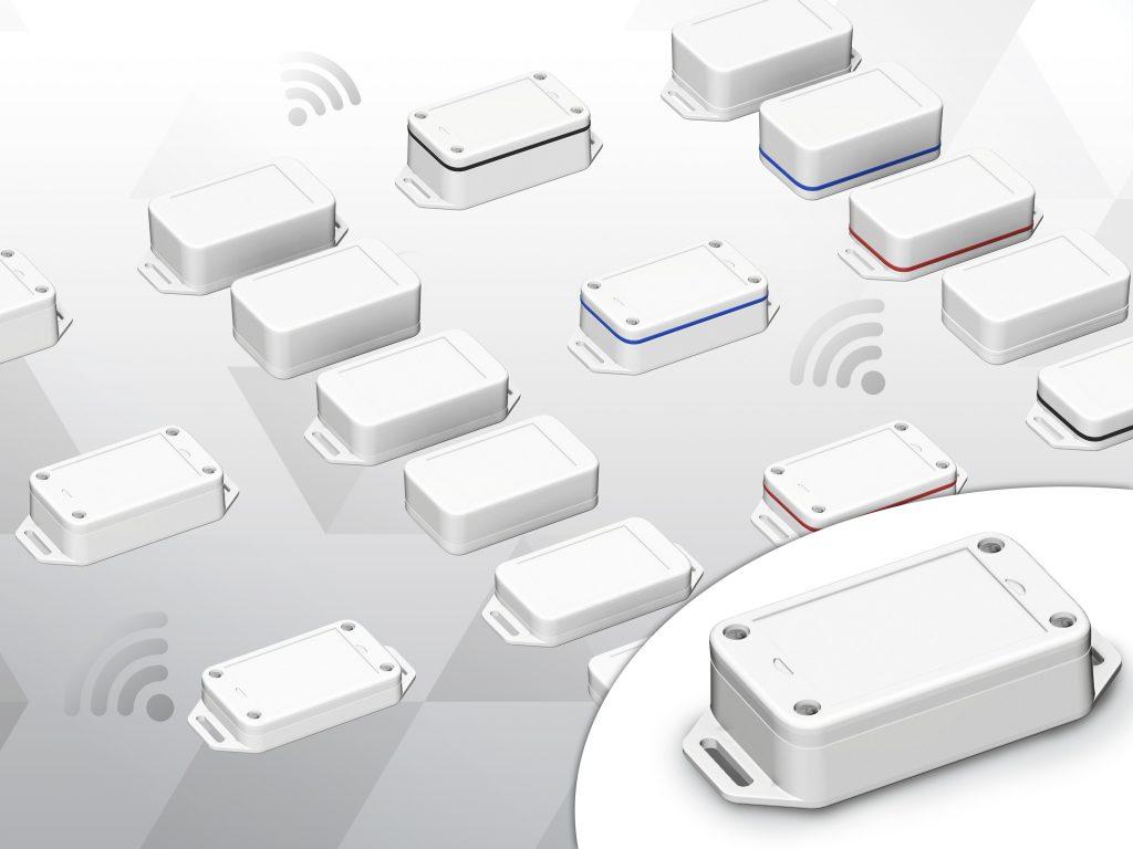 Die Baureihe der neuen IOT-Sensorgehäuse umfasst insgesamt 18 Varianten in drei verschiedenen Höhen und zwei Schutzarten. (Bild: Bopla Gehäuse Systeme GmbH)