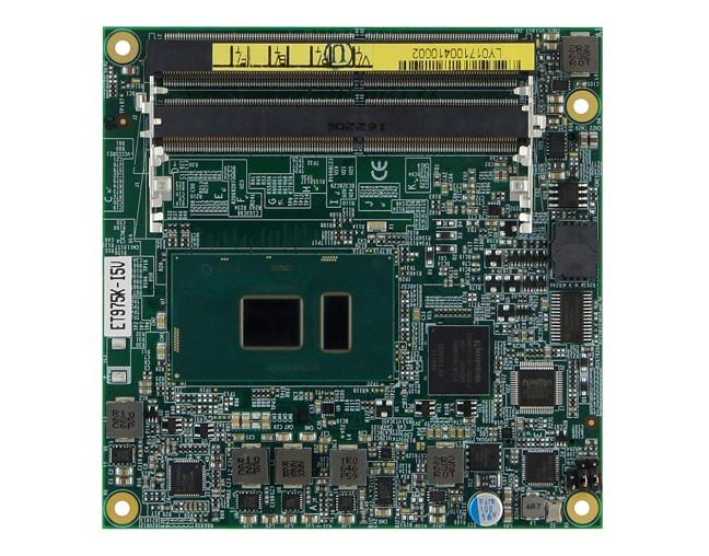 COM-Express-Modul mit der siebten Generation Intel-Core-Ultra-Low-Power-Prozessoren