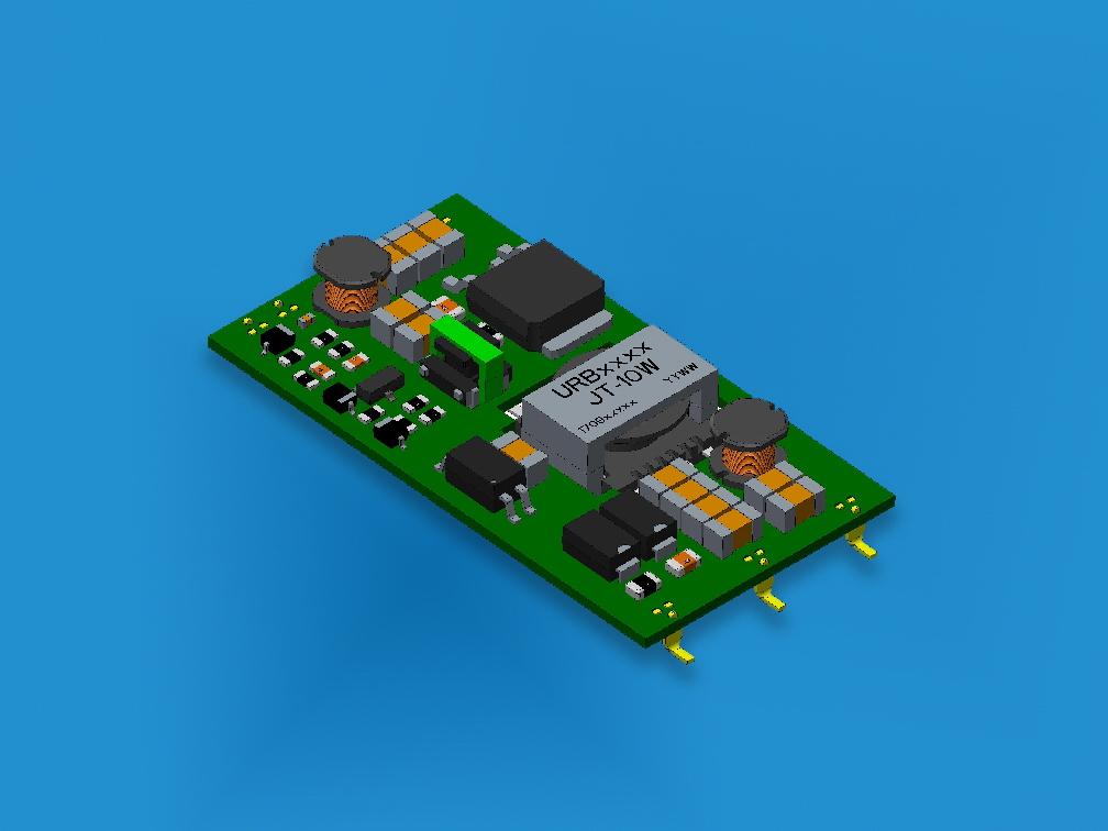 Ultraflache 6- und 10-W-DC/DC-Konverter für eingebettete Applikationen