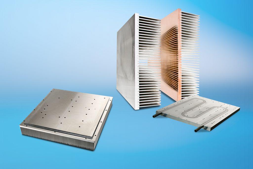 Auf der PCIM 2018 präsentiert CTX unter anderem die Hochleistungskühlkörper der Serien SuperFins und SuperPlate mit Flüssigkeitskühlung. (Bild: CTX Thermal Solutions GmbH)