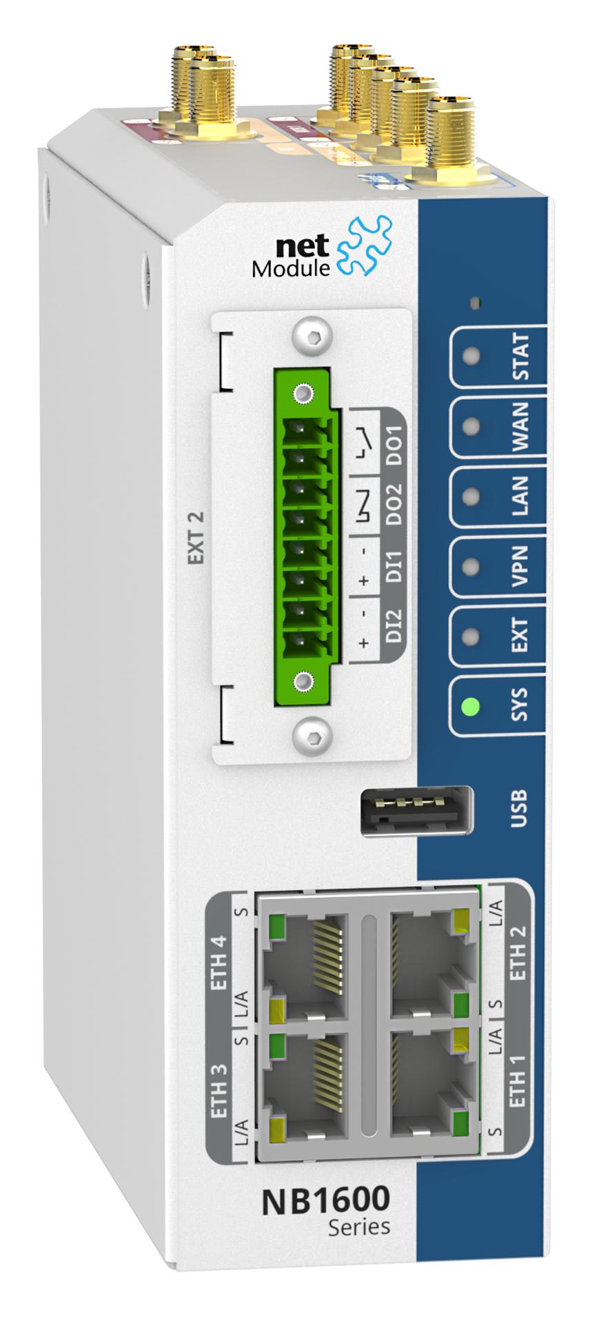 Robuster Router mit LTE, WLAN und 4 Ethernetports