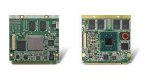 Aktuell kann das LoRa Gateway mit dem ARM-basierten Conga-QMX6 (links) oder  dem x86-basierten Conga-QA5 mit Intel Atom Prozessor (rechts) bestückt werden. (Bild: Congatec AG)