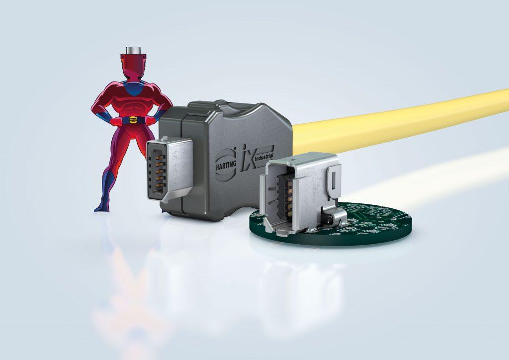 Der Harting ix Industrial ermöglicht es den Geräteherstellern bis zu 40 Prozent kleinere Geräte zu konzipieren. (Bild: Harting Technologiegruppe)