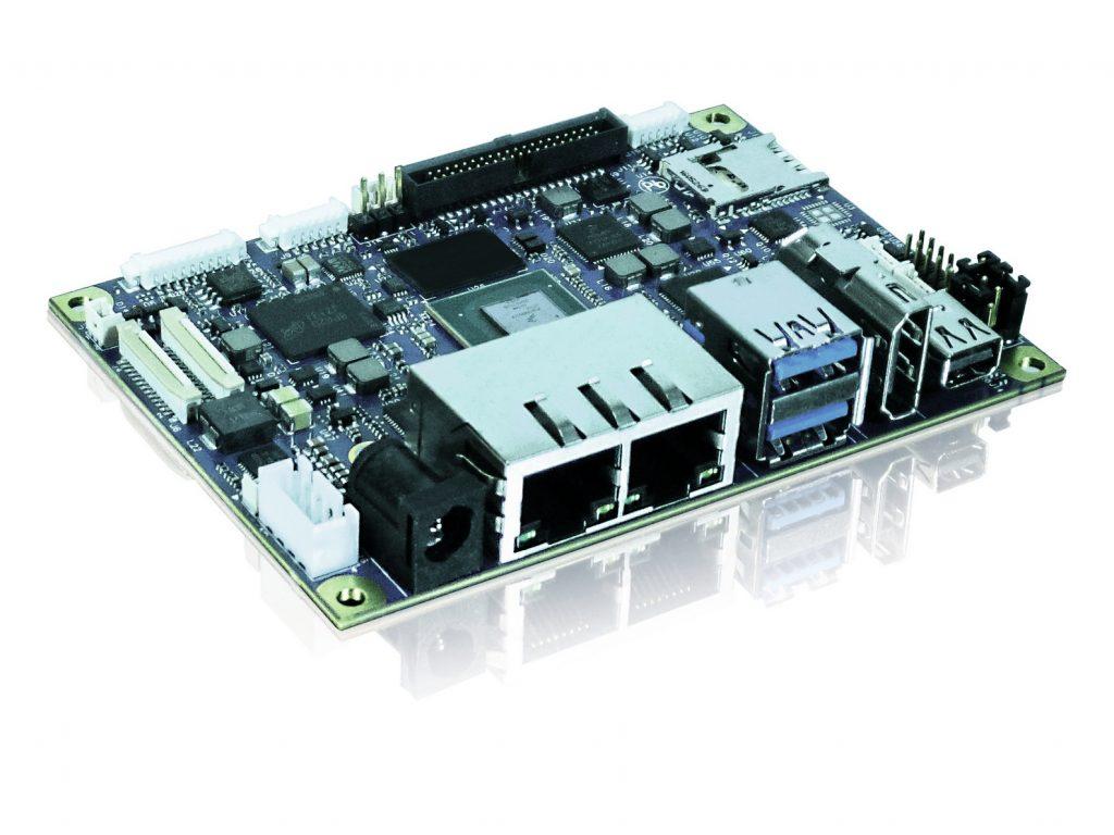 Das Kontron pITX-iMX8M im Single-Board-Computer-Formfaktor Pico-ITX ist bestückt mit NXP Zwei- oder Vierkern-CPUs auf Basis der Arm-Cortex-A53-Architektur mit bis zu 1,5GHz. (Bild: Kontron Europe GmbH)