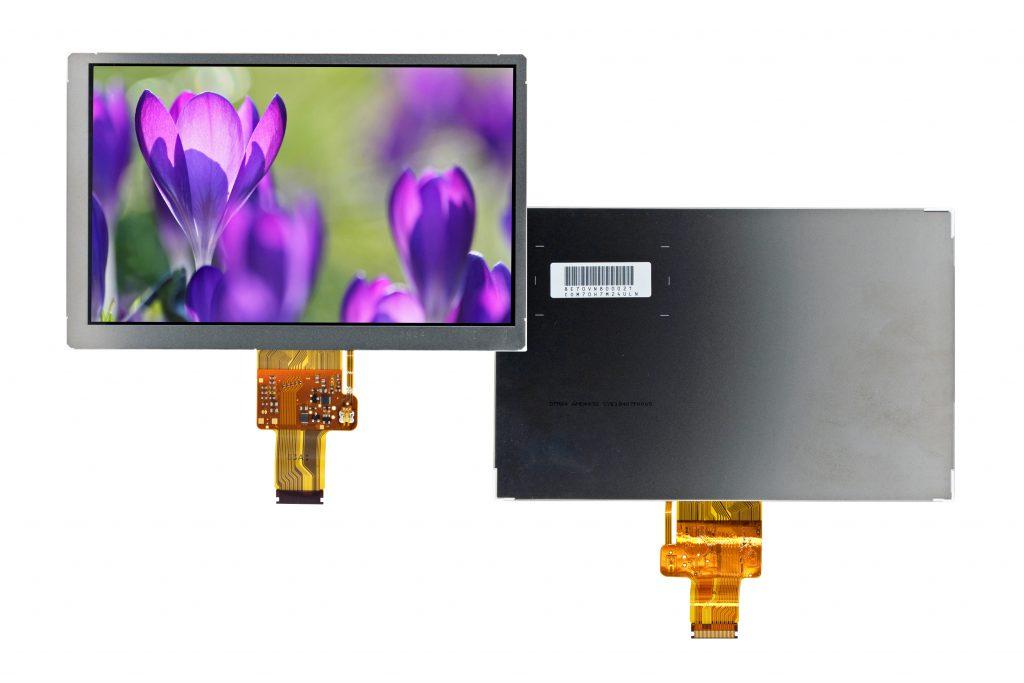 Robustes, sonnenlichtlesbares 7-Zoll-TFT-Display COM70H7M24ULC von Ortustech mit New-Blanview-Technologie (Bild: Distec GmbH)