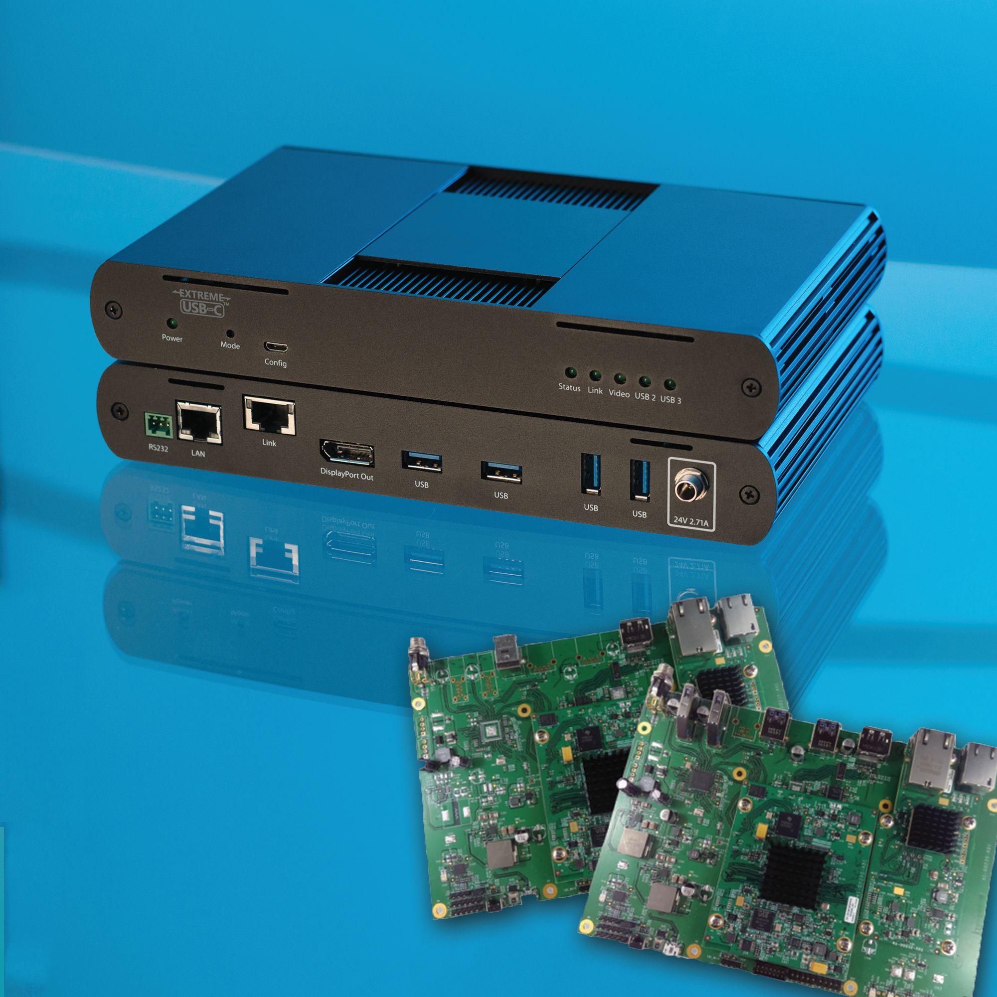 CAT6e-Extenderkabel für USB und DisplayPort
