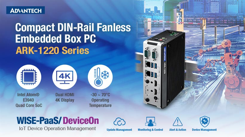 Kompakter Box-PC für DIN-Schienen