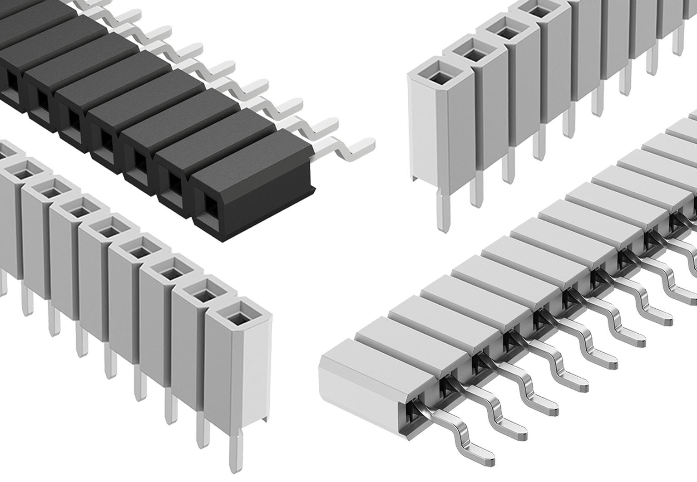 Buchsenleisten für LED- und SMD-Anwendungen mit niedriger Bauhöhe