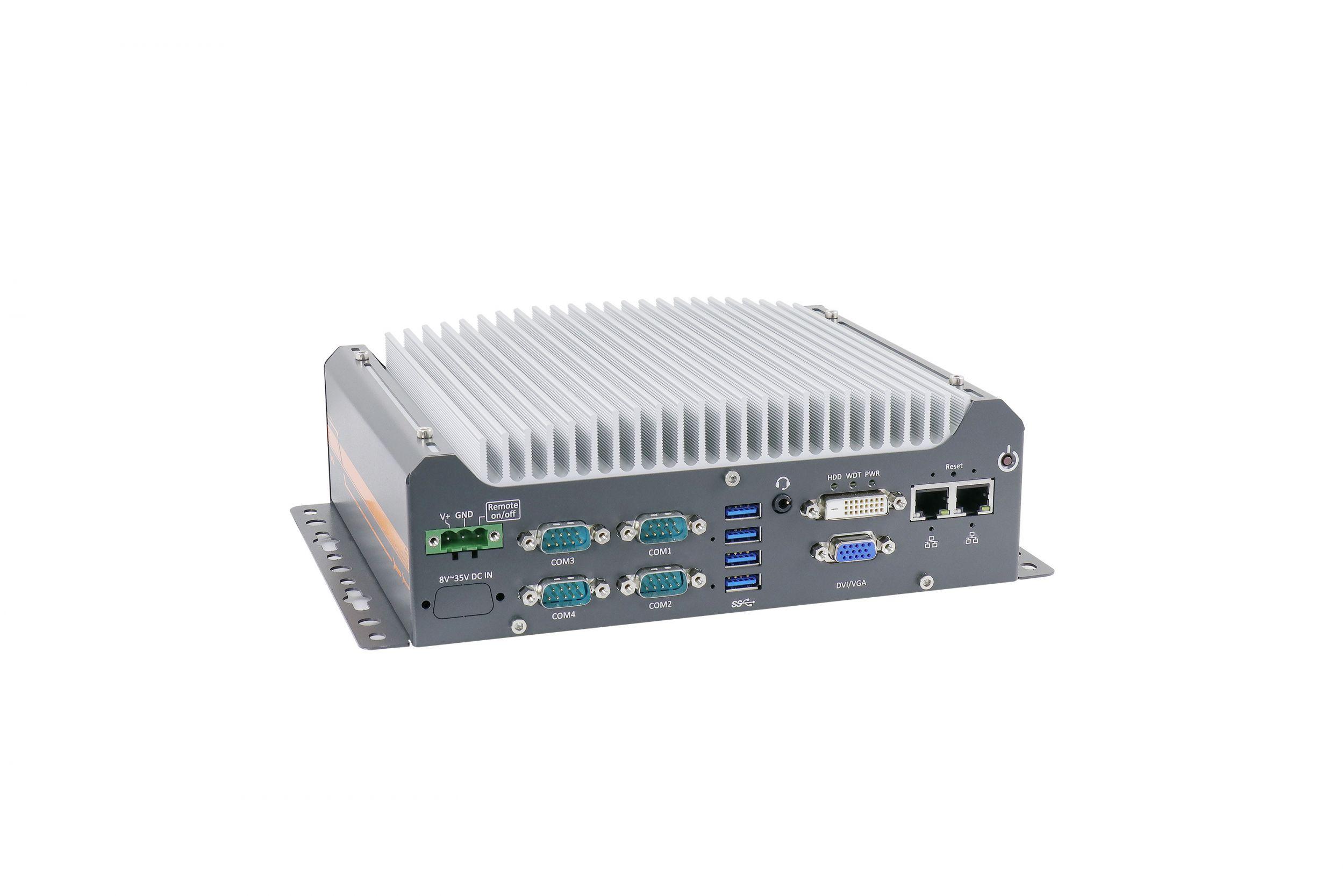 Lüfterloser Box-PC mit Hexa oder Octa Core CPU