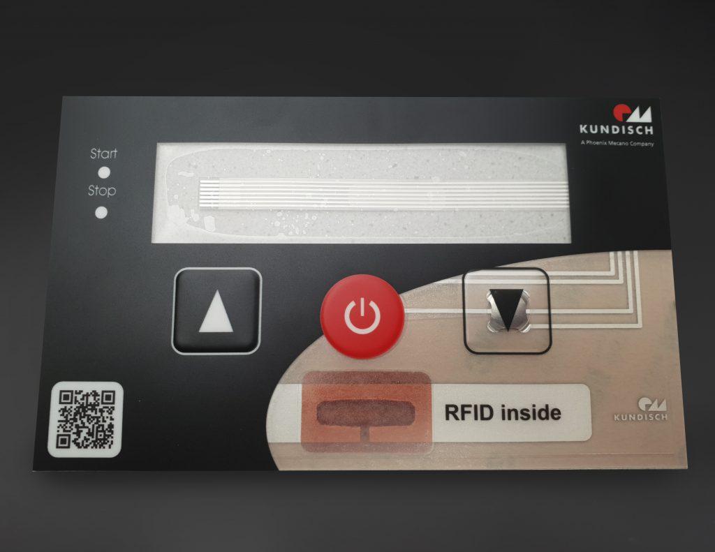 Mit der RFID-Inside-Folientastatur bietet sich Kunden ein guter Mehrwert: Ihre Anwendungen sind direkt auf Industrie 4.0 vorbereitet. (Bild: Kundisch GmbH & Co. KG)