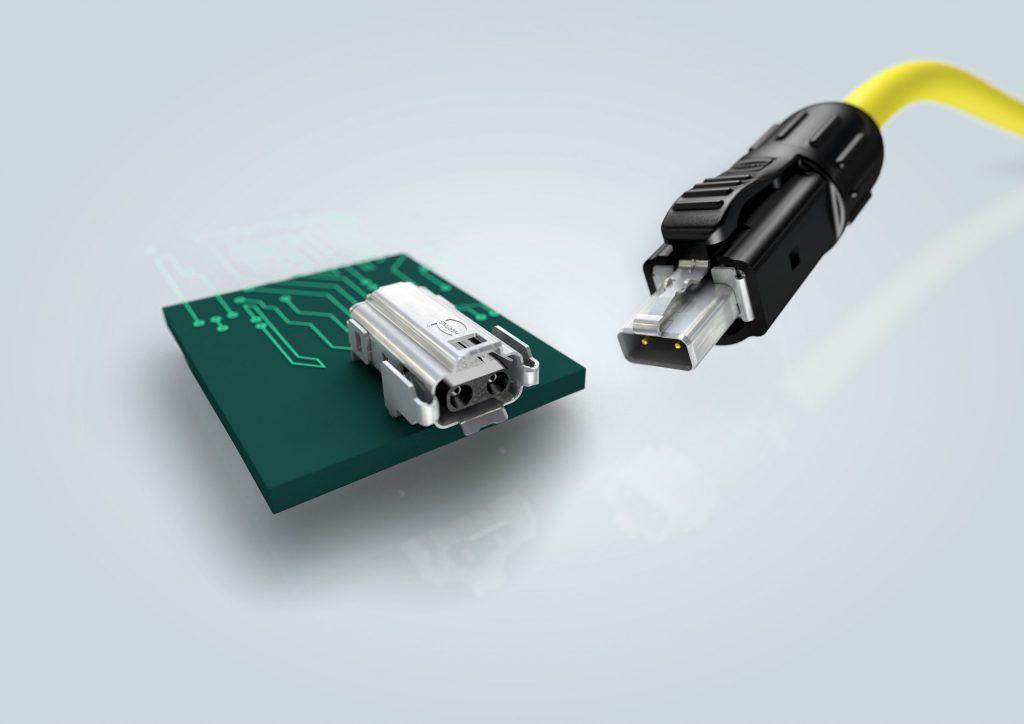 Die IEC63171-6 spezifiziert die Single Pair Ethernet (SPE) Schnittstelle 'Industrial Style' nach dem Vorschlag von Harting und ist zukünftige Standardschnittstelle für industrielle SPE-Anwendungen (Bild: Harting Stiftung & Co. KG)