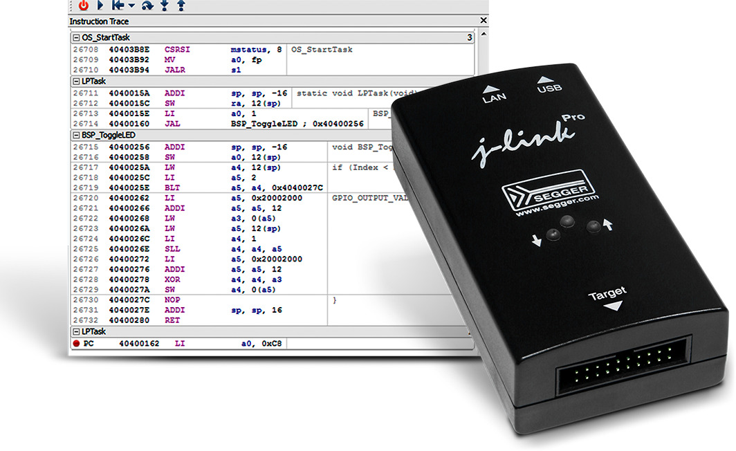 Segger unterstützt die SiFive Insight Debug-/Trace-Plattform