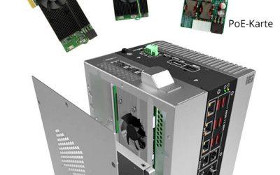 Embedded PC erweiterbar mit PoE oder Beschleunigerkarte