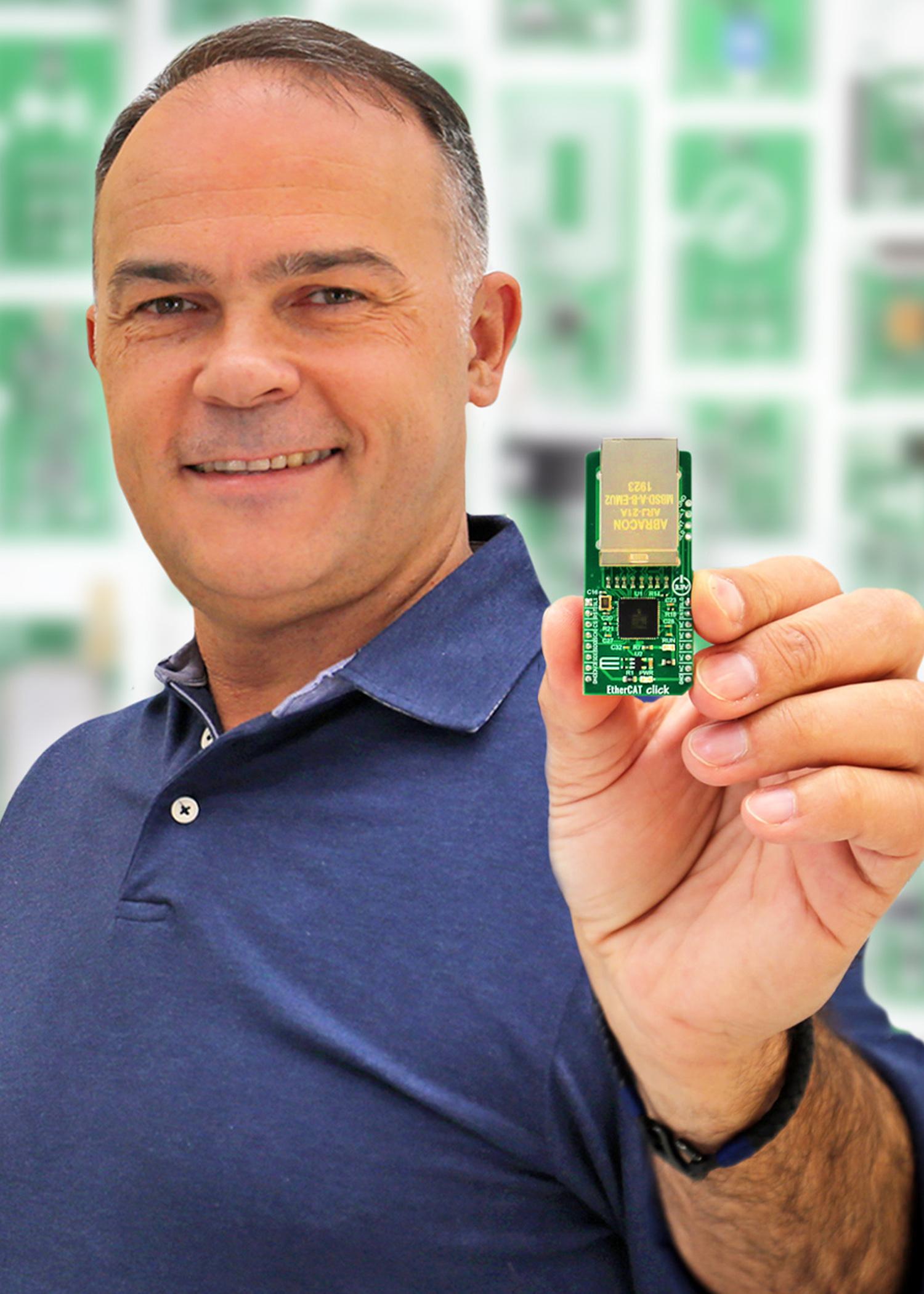Click Board zur Ausstattung von Prozessoren mit Ethercat-Option