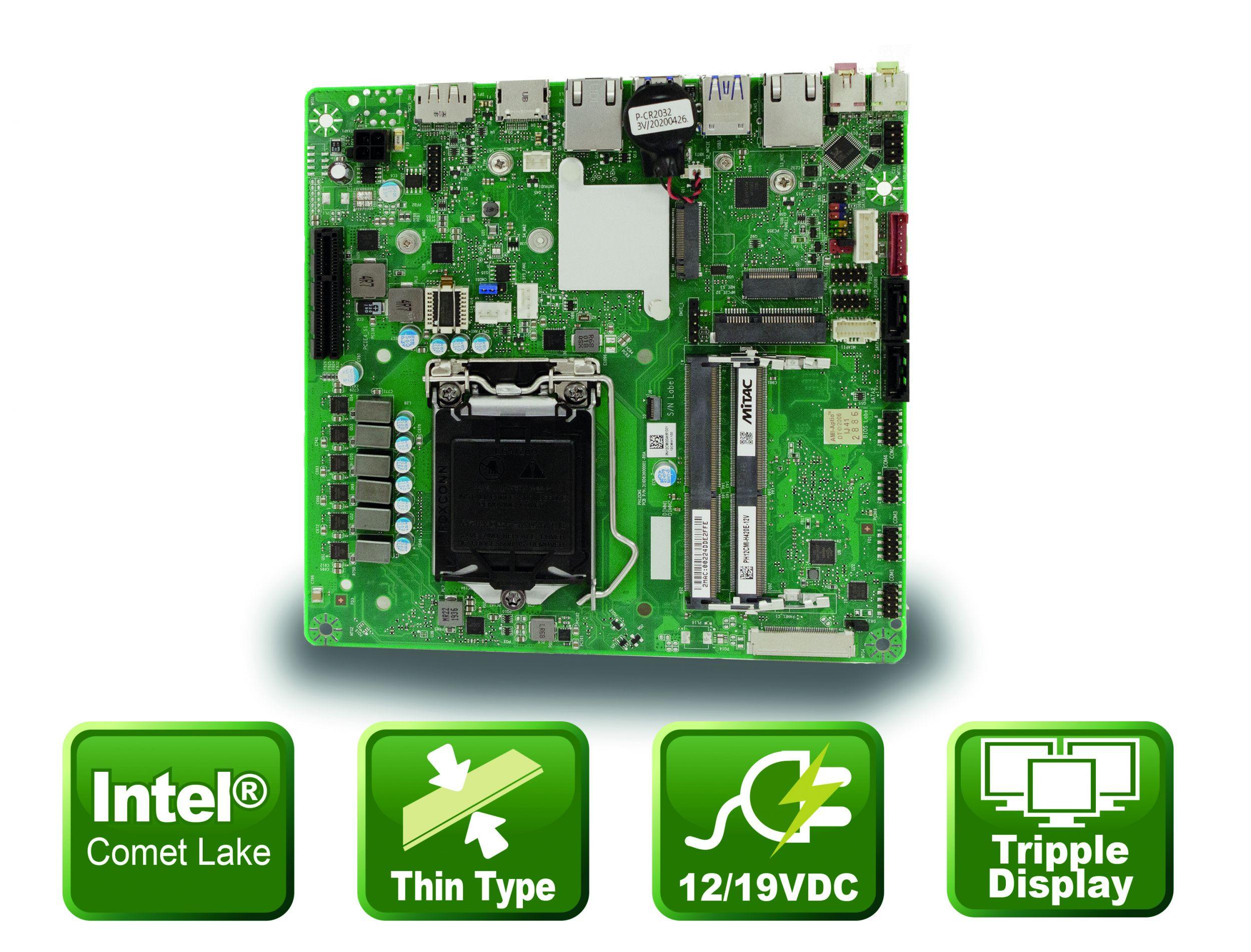 Thin-Mini-ITX Mainboard mit 10 Rechenkernen