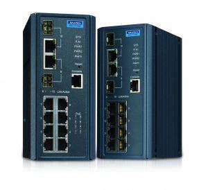 Die Managed Ethernet Switche der EKI-7710-Schalterserie unterstützen das Gerätemanagement. (Bild: Advantech Europe BV)