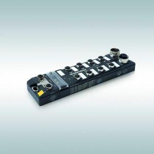 Der Multiprotokoll-IO-Link-Master TBEN-L-8IOL von Turck eignet sich für Profinet, Ethernet/IP und Modbus TCP. (Bild: Hans Turck GmbH & Co. KG)