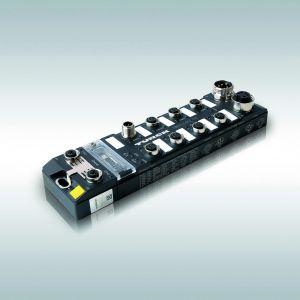 Die kompakte Block-I/O-SPS TBEN-PLC ist robust sowie IP67-tauglich und ermöglicht so schaltschrank- lose Maschinen und Anlagen. (Bild: Hans Turck GmbH & Co. KG)