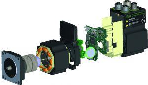 Der neue JVL QuickStep MIS23 in seine Bestandteile zerlegt (Bild: JVL Industri Elektronik A/S)