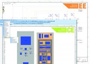 Stromlaufpläne werden mit der Disziplin Electrical Engineering der WSCAD SUITE entwickelt. Der Schrankaufbau mit Cabinet Engineering schließt sich nahtlos daran an, alternativ können Stromlaufpläne aus anderen E-CAD-Systemen eingelesen werden. (Bild: WSCAD electronic GmbH)