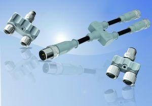 Kompakte Y-Verteiler in Schutzart IP67