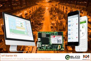 Mit dem IoT-Starter-Kit von Monkey Works lassen sich Industrie-4.0-Szenarien vorab erproben. (Bild: Monkey Works GmbH)