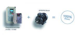 Die Plug&Play-Kombination SPRiPM besteht aus zwei Frequenzumrichtern sowie einem Permanentmagnet-Synchronmotor. (Bild: Vipa GmbH)