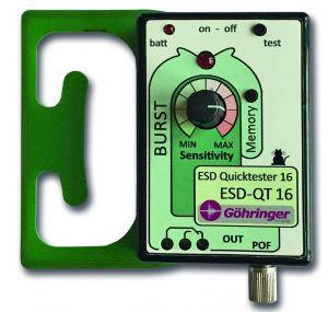Der Quicktester ESD-QT 16 signalisiert elektrostatische Entladungen visuell und akustisch. (Bild: I-V-G Göhringer)