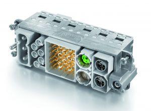Modulare Steckverbinderlösung zur Übertragung von Energie, Signalen und Daten
