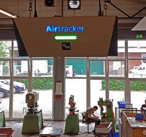 Arbeitsschutz 4.0: Ampel-Sensor überwacht und reguliert Raumluft in Caritas-Werkstatt