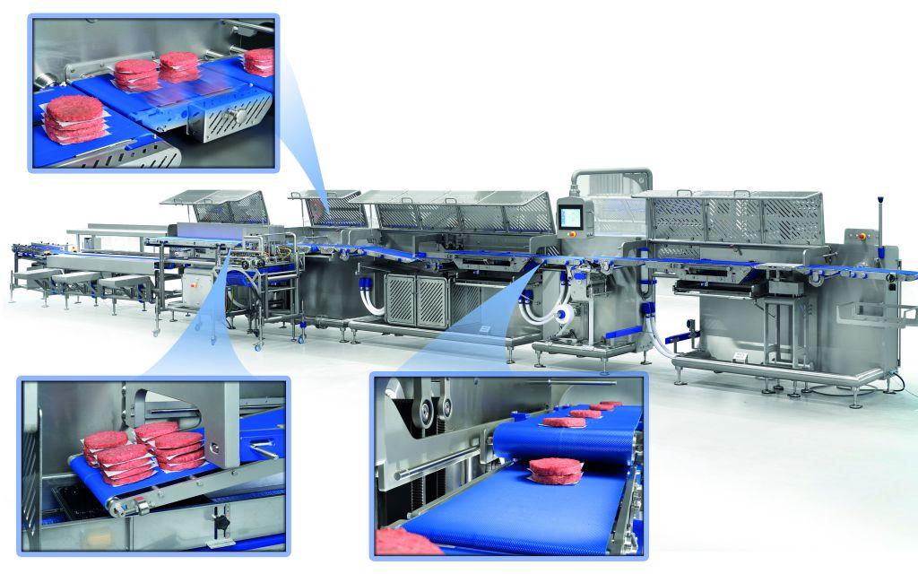 Modern und flexibel - die neue Burger-Linie von Sleegers Technique versorgt in den USA 80 Lidl-Filialen mit portioniertem Hackfleisch. (Bild: Sleegers B.V./SigmaControl B.V.)