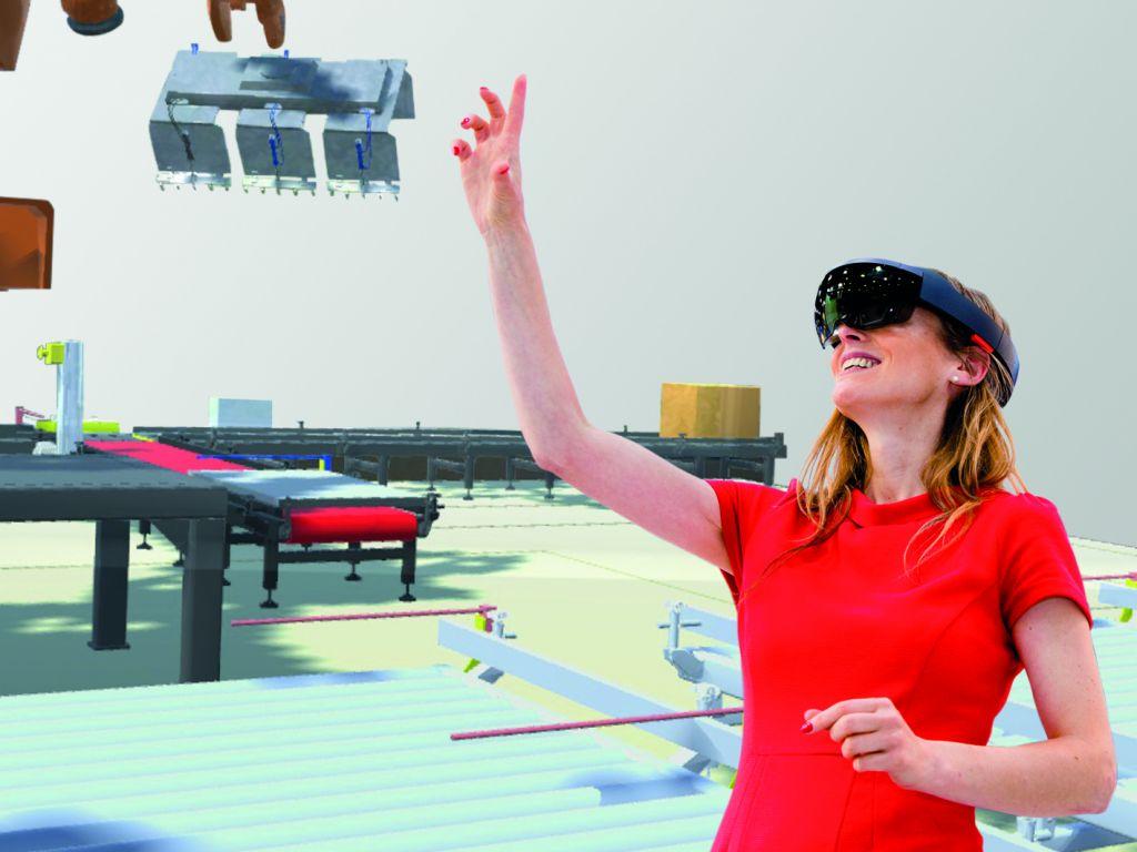 Die 3D-Simulation von Anlagen und Prozessen kann dabei helfen, Fehler im realen Betrieb zu vermeiden. (Bild: Machineering GmbH & Co. KG)