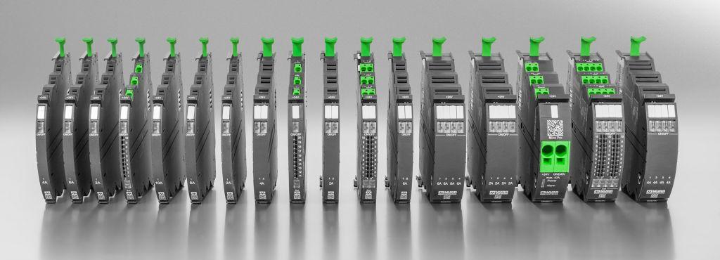 Bei Micro Pro handelt es sich um ein modulares System zur Stromüberwachung und Potenzialverdrahtung. (Bild: Murrelektronik GmbH)