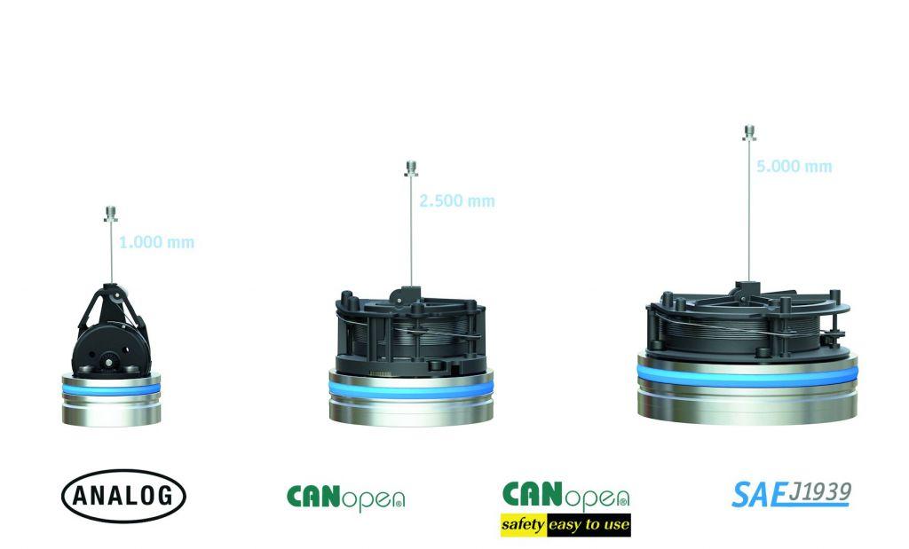 Die SGH-Sensoren (v.l.n.r.): SGH10 mit Messlänge bis 1m, SGH25 mit Messlänge bis 2,5m, sowie SGH50 mit Messlänge bis 5m. (Bild: Siko GmbH)