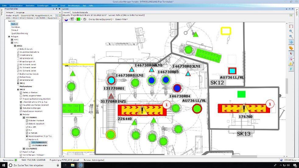 Digitales Baustellenmanagement im Anlagenbau