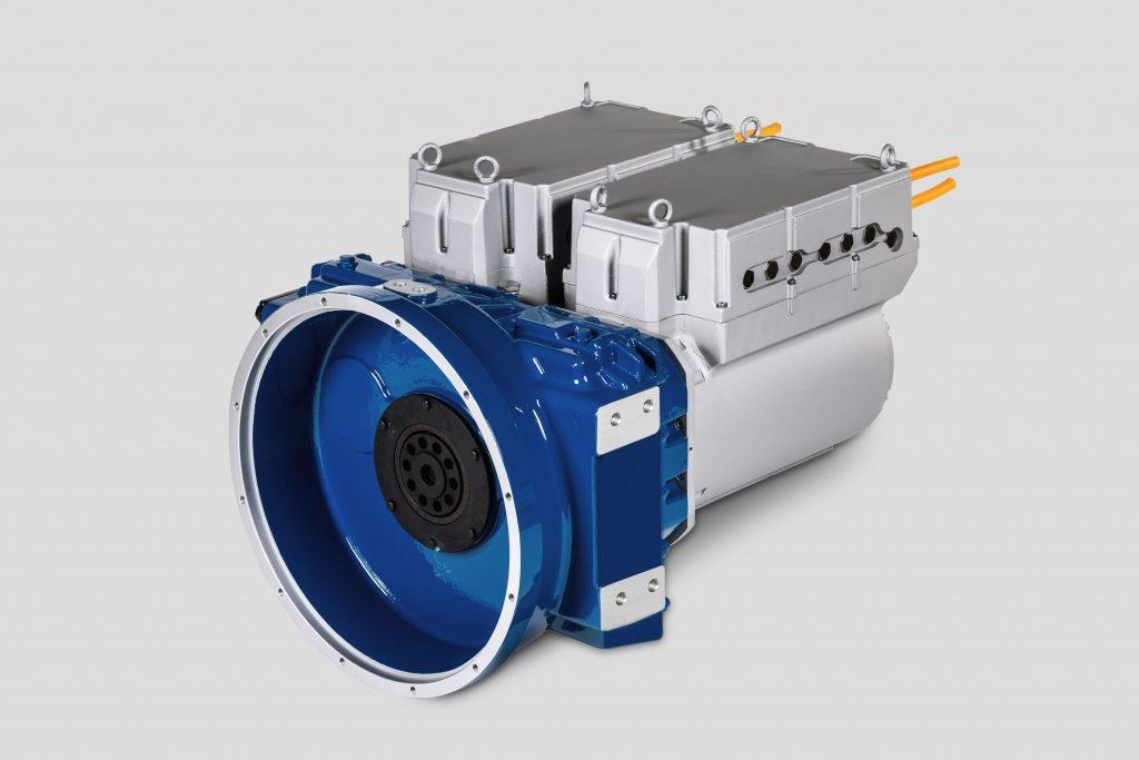 Das Antriebspaket  PowerMela duo280 eignet sich im Einsatz für schwere Nutzfahrzeuge und wurde daher an eine 44T-Sattelzugmaschine angeschlossen. (Bild: STW Sensor-Technik Wiedemann GmbH)