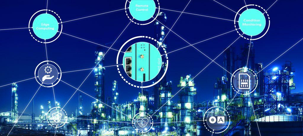Die zentrale Vernetzung von Maschinen und Anlagen spielt eine immer wichtiger  werdende Rolle und soll z.B. über die Gateways von Insys icom ermöglicht werden. (Bild: Insys Microelectronics GmbH)