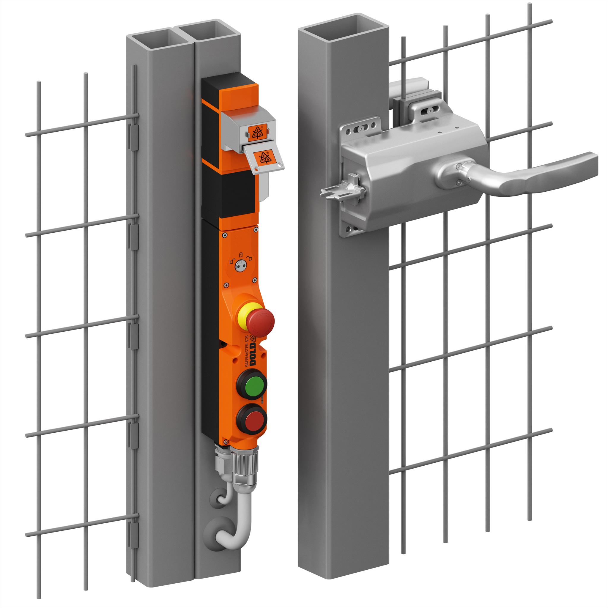 Ergonomisches Öffnen von Schutztüren