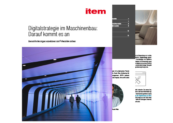 Geeignete Digitalstrategien als Basis  für den Maschinenbau der Zukunft