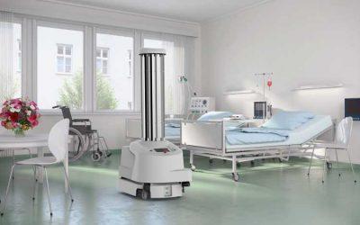 Desinfektions-roboter im Kampf gegen das Coronavirus