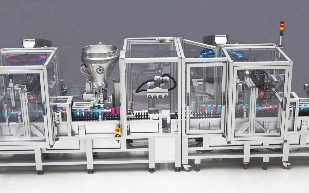 Vollautomatische Abfüllanlage für mehrere Flüssigkeiten