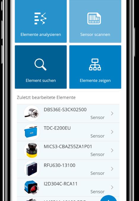 App zur Digitalisierung von Sensoren